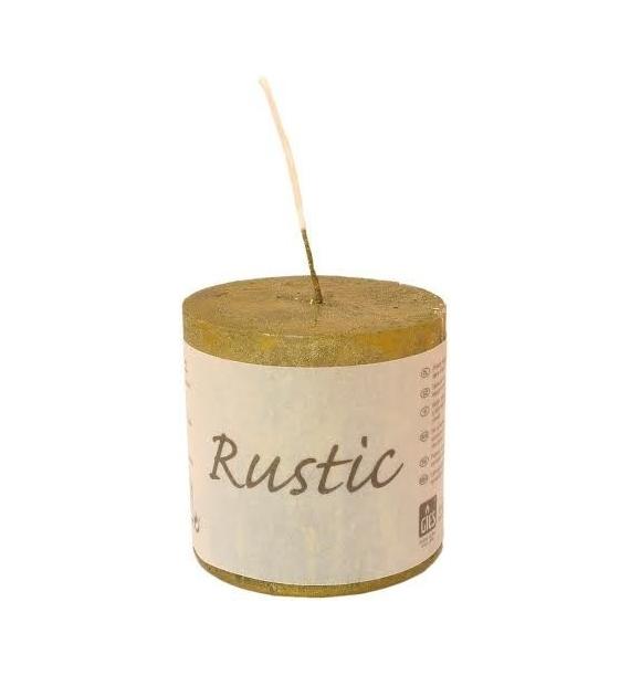 RUSTIC 60/60 OLIWKA - świeca metallic bezzapachowa
