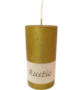 RUSTIC 70/140 OLIWKA - świeca metallic bezzapachowa