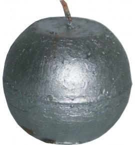 RUSTIC D60 SREBRNY - świeca metallic bezzapachowa
