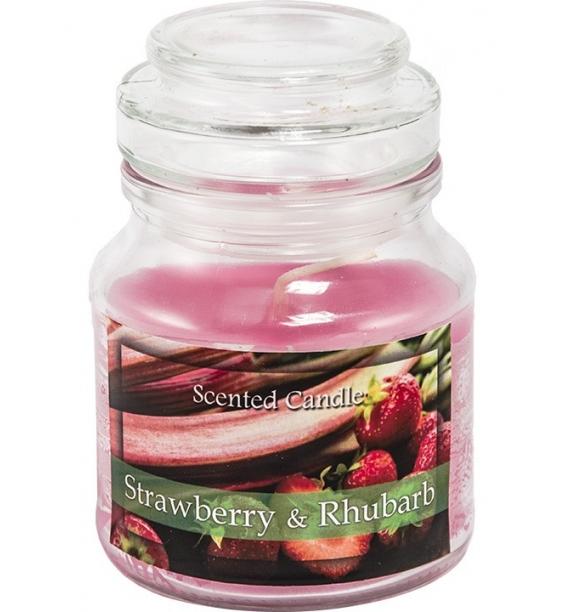 Strawberry Rhubarb - świeca zapachowa w słoiczku