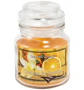 Orange & Vanilla - świeca zapachowa w słoiczku