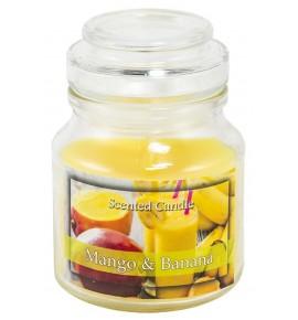 Mango Banana - świeca zapachowa w słoiczku