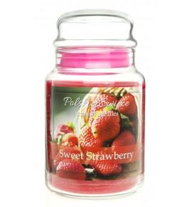Sweet Strawberry - świeca zapachowa w dużym słoju 600g