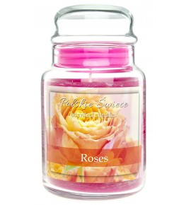 Roses - świeca zapachowa w dużym słoju 600g