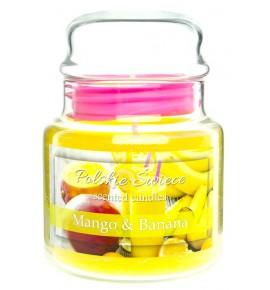 Mango & Banana - świeca zapachowa w średnim słoju 430g