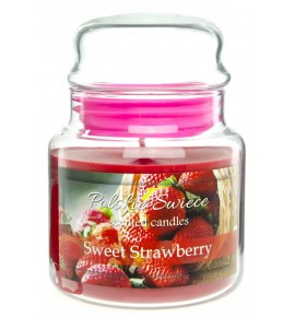 Sweet Strawberry - świeca zapachowa w średnim słoju 430g