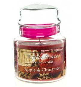 Apple & Cinnamon - świeca zapachowa w średnim słoju 430g