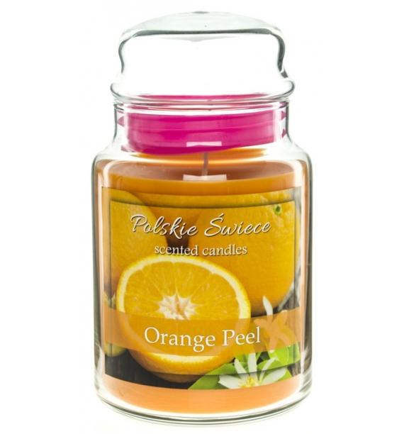 Orange Peel - świeca zapachowa w dużym słoju 600g