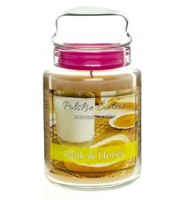 Milk & Honey - świeca zapachowa w dużym słoju 600g