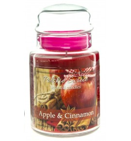 Apple & Cinnamon - świeca zapachowa w dużym słoju 600g