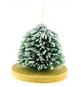 Choinka iglasta H8 ZIELONY/BIAŁY - świeca świąteczna