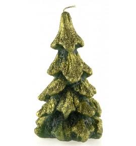 Choinka H15 ZIELONA - świeca świąteczna