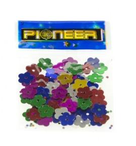 Kwiatuszki kolorowe - zestaw cekinów (4 woreczki)