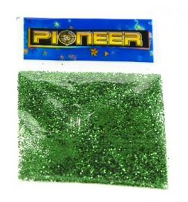 Zielony brokat - zestaw 4 woreczki