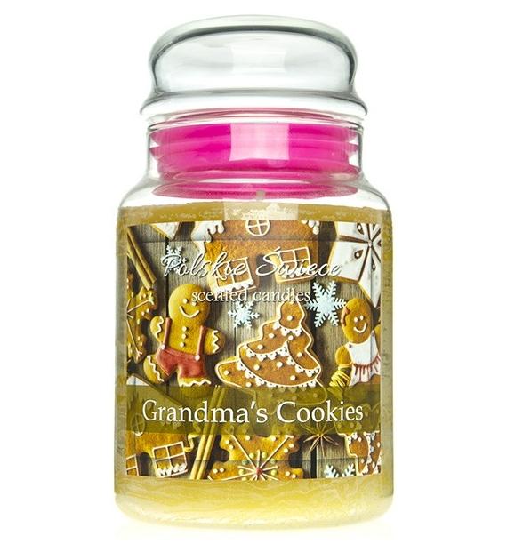 Grandma's Cookies - świeca zapachowa w dużym słoju 600g