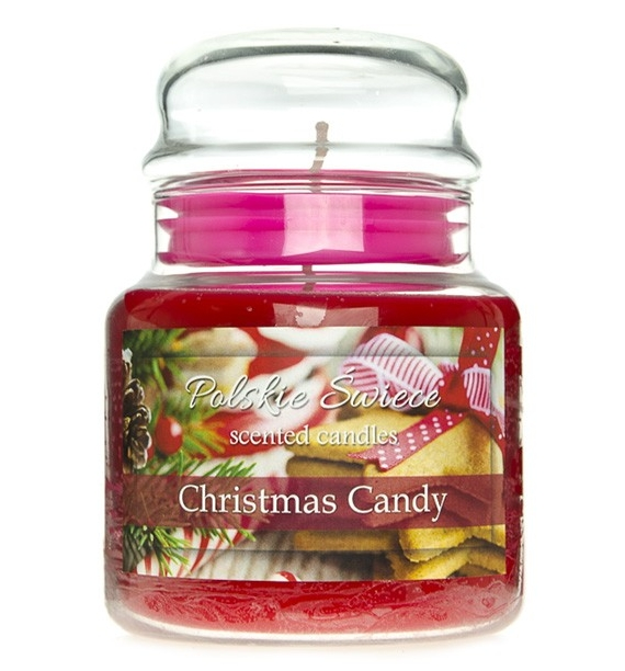 Christmas Candy - świeca zapachowa w średnim słoju 430g