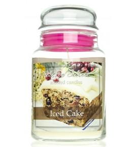 Iced Cake - świeca zapachowa w dużym słoju 600g