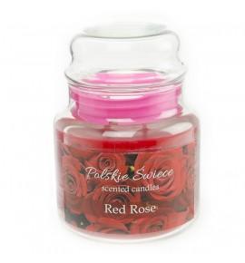 Red Rose - świeca zapachowa w średnim słoju 430g