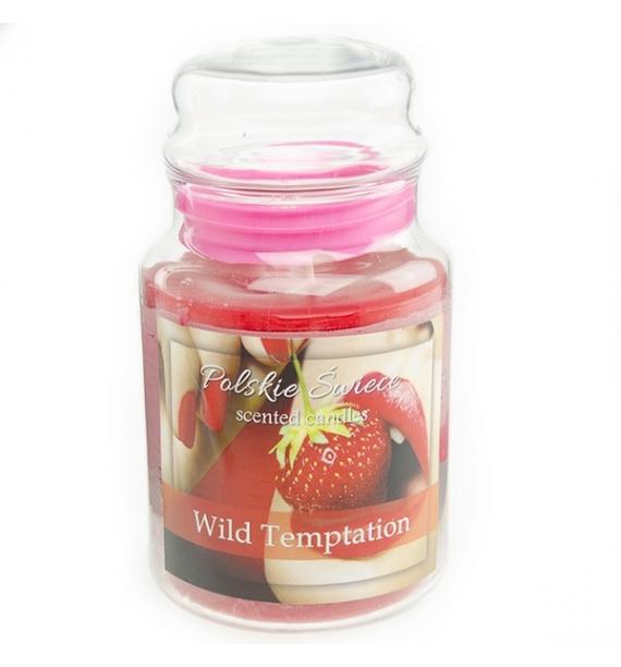 Wild Temptation - świeca zapachowa w dużym słoju 600g