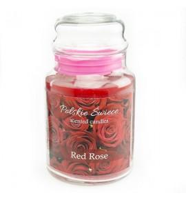 RED ROSE - świeca zapachowa w dużym słoju 600g