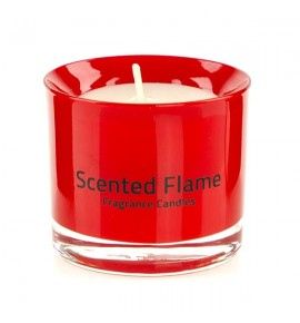 Scented Flame (Czerwony) - mała świeca zapachowa w szkle