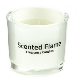 Scented Flame (Biały) - średnia świeca zapachowa w szkle