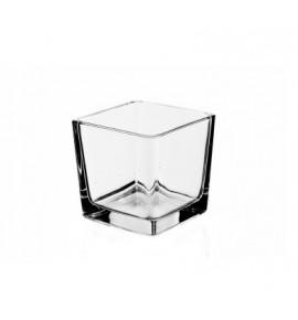 Kwadrat 6/6/6 - świecznik szklany