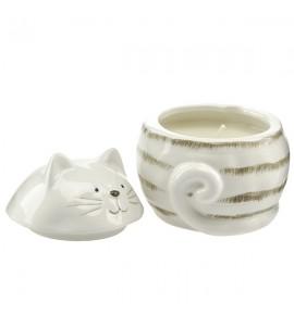 Lawenda - świeca w figurce kotek