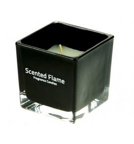 Scented Flame (Czarny) - średnia świeca zapachowa w szkle 8/8/8