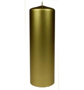 WALEC 80/250 ZŁOTY METALLIC - świeca klasyczna