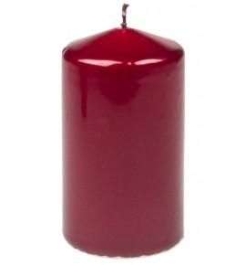 WALEC 60/100 CZERWONY METALLIC - świeca klasyczna