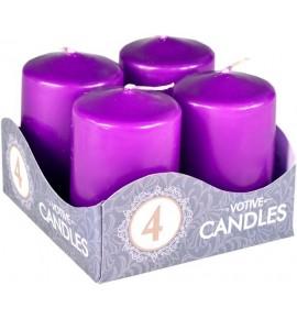 WALEC 40/60 FIOLET 4szt. - klasyczna świeca bezzapachowa