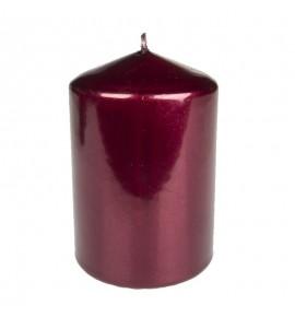WALEC 70/100 BORDOWY METALLIC - świeca klasyczna