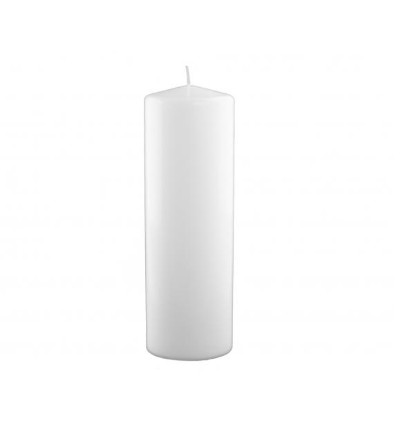 WALEC 100/300 BIAŁA - świeca klasyczna