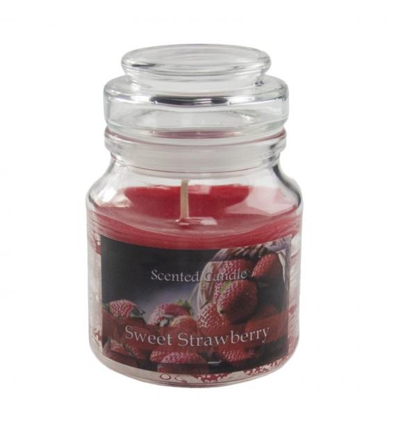 Sweet Strawberry - świeca zapachowa w słoiczku
