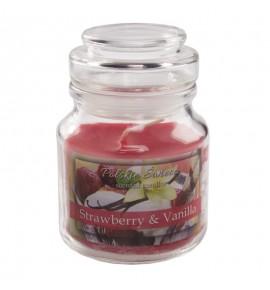 Strawberry Vanilla - świeca zapachowa w słoiczku