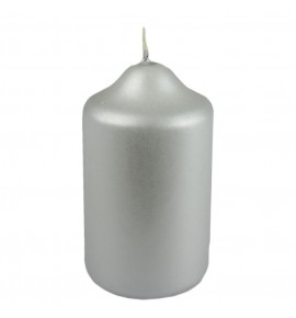 WALEC 45/75 SREBRNY MAT METALLIC - świeca klasyczna