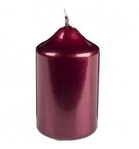 WALEC 45/75 BORDO METALLIC - świeca klasyczna