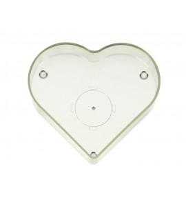 Serce - naczynie poliwęglanowe do świec (10 szt.)