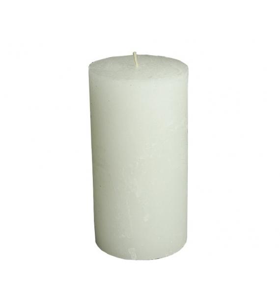 RUSTIC 80/150 BIAŁY - świeca bezzapachowa