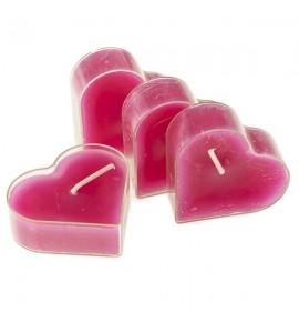 Serce Passionate Kiss 4szt. - podgrzewacze kształty zapachowe