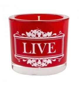 Live (Czerwona) -  świeca zapachowa w szkle