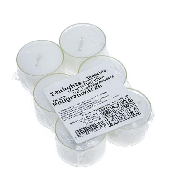 Podgrzewacze 8 godzinne 6 sztuk - białe bezzapachowe