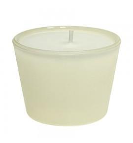 Świeca biała w szkle H-45 (kremowy) bezzapachowa