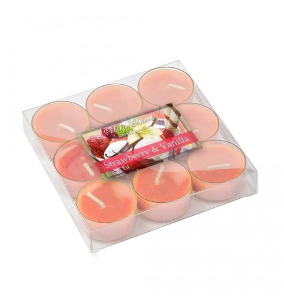 Strawberry & Vanilla - TRUSKAWKA WANILIA 9szt.- podgrzewacze zapachowe