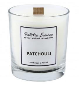 PATCHOULI - Świeca sojowa z drewnianym knotem VIVAT
