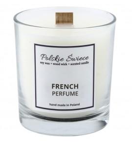 FRENCH PERFUME - Świeca sojowa z drewnianym knotem VIVAT