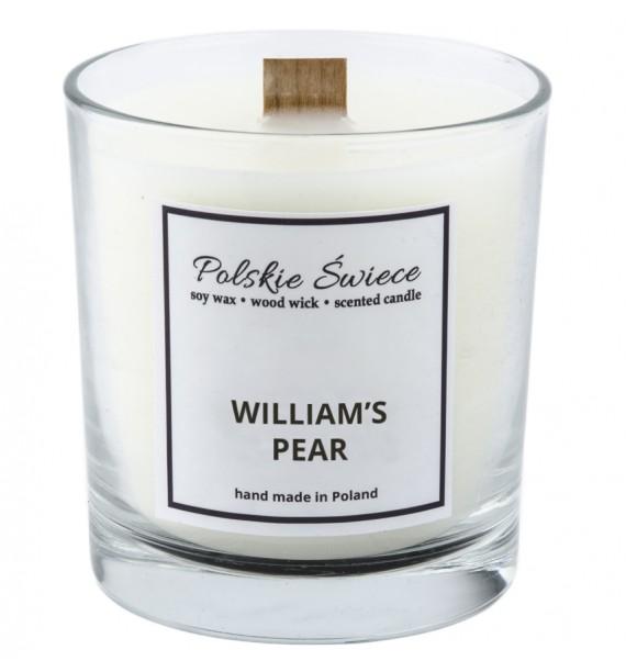 WILLIAM'S PEAR - Świeca sojowa z drewnianym knotem VIVAT