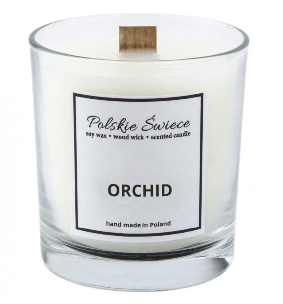 ORCHID - Świeca sojowa z drewnianym knotem VIVAT