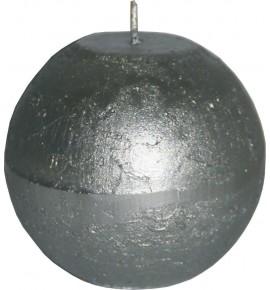 RUSTIC D80 SREBRNA - świeca metallic bezzapachowa